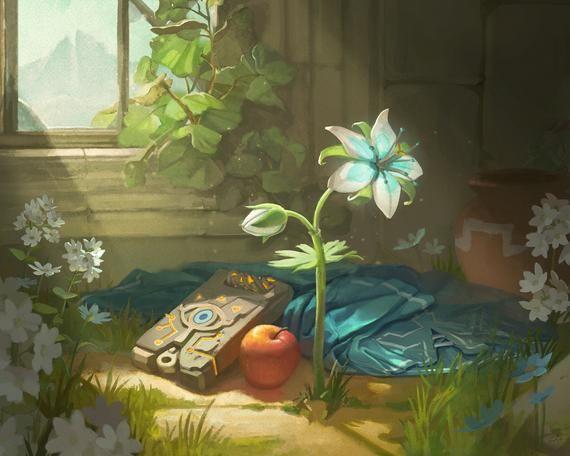 Breath Of The Wild Nature Study Print Legend Of Zelda Breath Zelda Art Legend Of Zelda