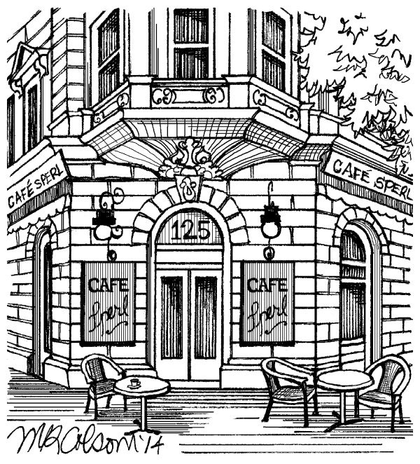 PRINT OF THE WEEK SPERL CAFE Adult Coloring PagesColoring