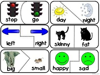 Worksheets Example Of Antonyms 17 best images about slp synonymantonym freebies on pinterest puzzle match sample pack