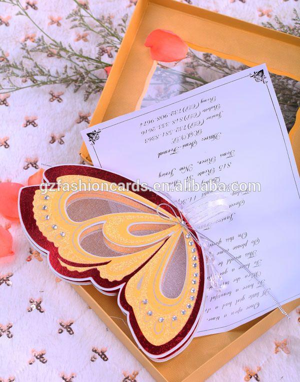 Diseño de lujo de calidad superior mariposa boda de la voluta invitaciones en blanco-en Artesanía Papel de Regalos y Artesanía en m.spanish.alibaba.com.