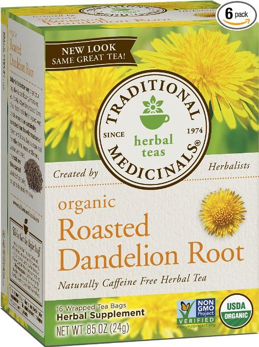 For pregnancy swelling - Traditional Medicinals Organic Roasted Dandelion Root, 16-Count Boxes (Pack of 6): Amazon.com: Grocery & Gourmet Food