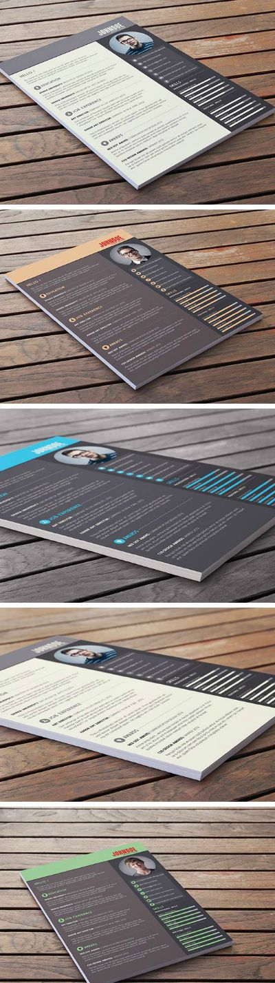 Free Resume / CV Template #Freebies #PSD