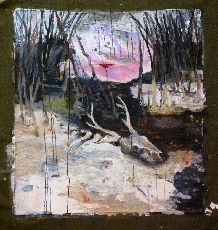 Samuli Makkonen, Little Faith, 120 x 130Acrylic on canvas