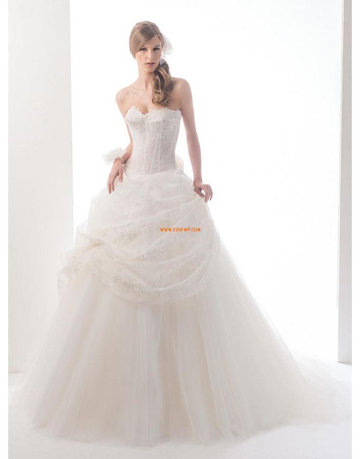 Tüll  Ujjatlan Cipzár Menyasszonyi ruhák 2015