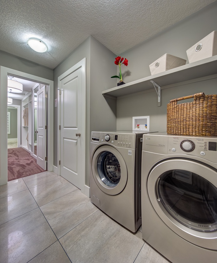 17 best images about showhome the willow creek on for Second floor laundry