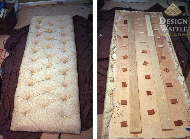 DIY tufted headboard.  How about tufted bench.