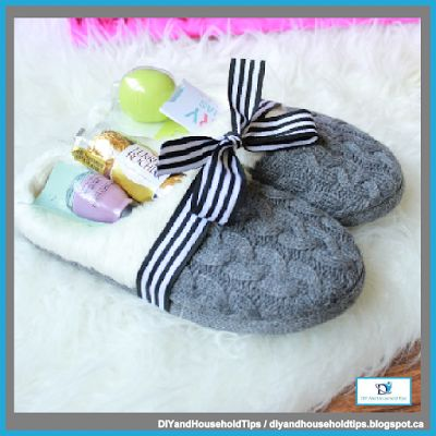 DIY And Household Tips: Cozy Slippers Gift Idea