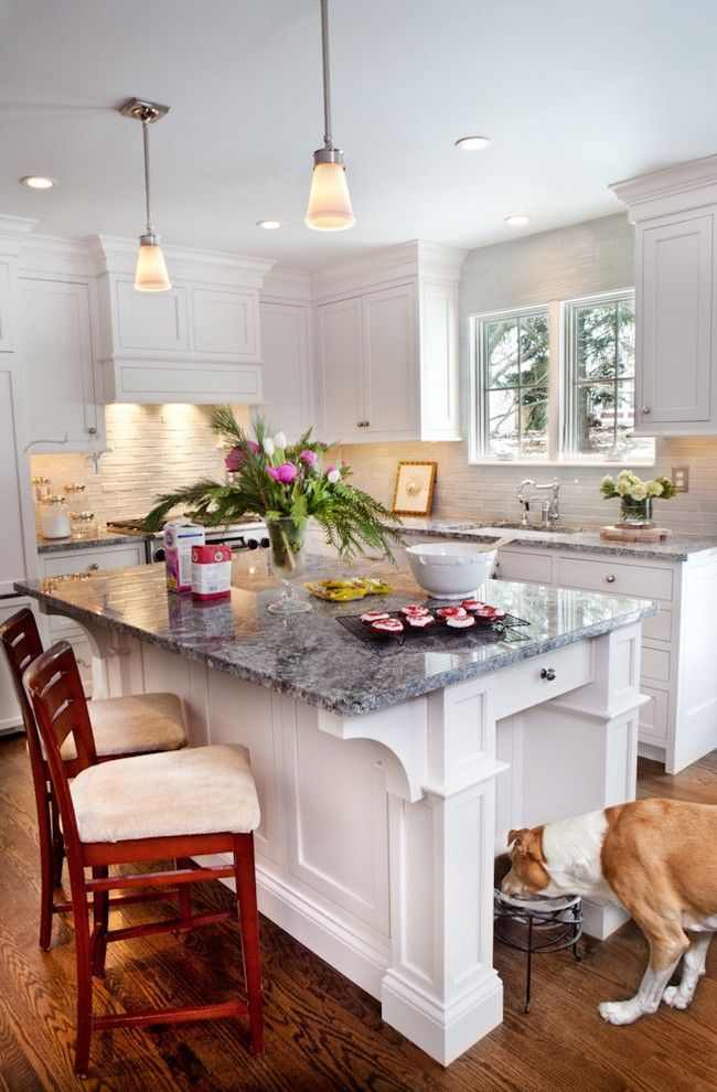 Fantasy White Granite Kitchen Traditional with Neutral Colors Contemporary Gas and Electric Ranges