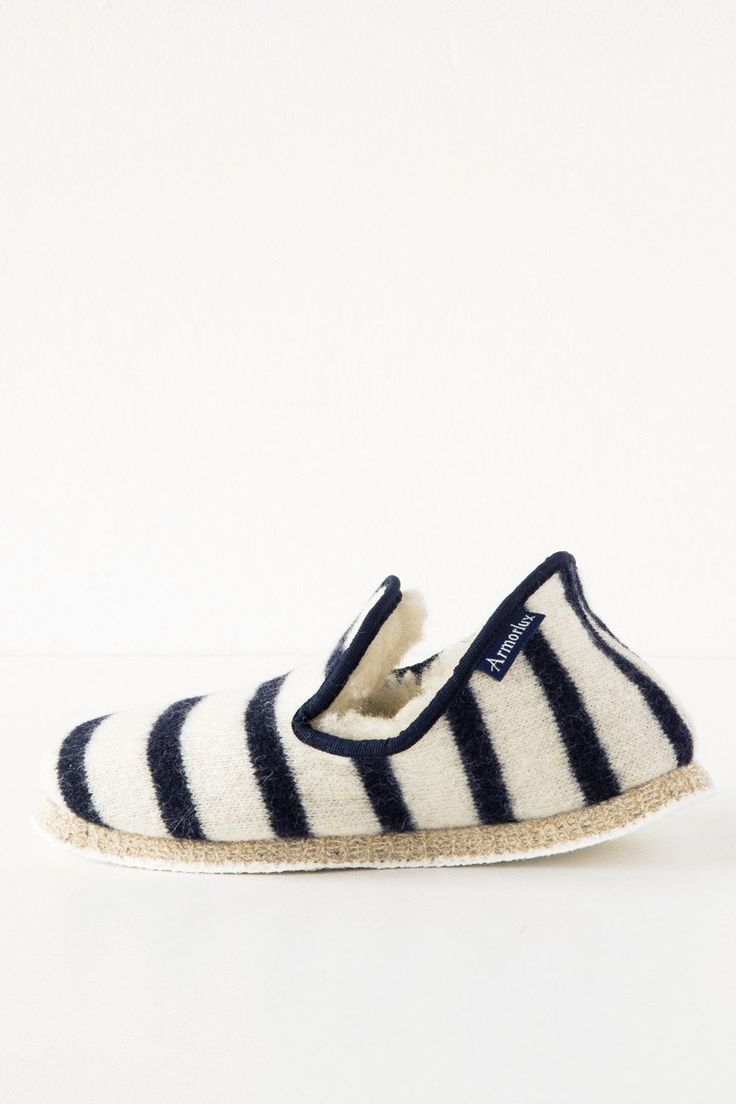 armor - lux natural/navy slippers