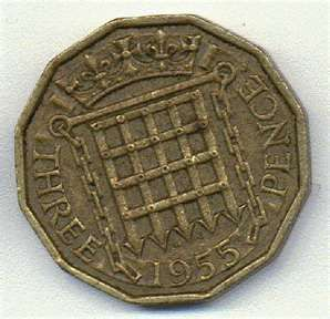 Threepenny bit, the new pound club they are bringing out is going to be this shape and size apparently.