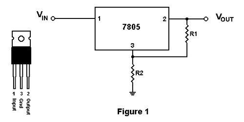 7805 voltage regulator ic diagram