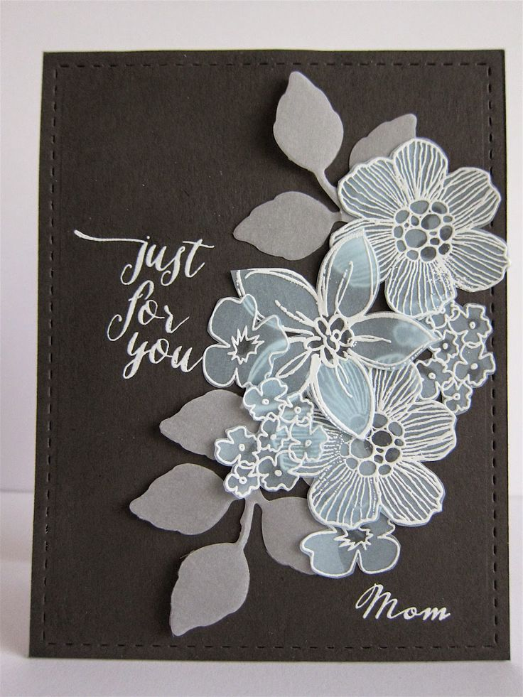 Card Making Ideas Using Vellum Part - 15: Botanical Cafe: More Drama With A Vellum Bouquet