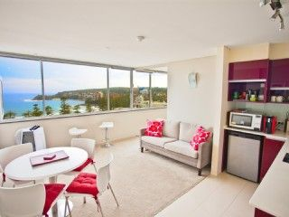 Sydney Holiday Apartment at Manly Beach with Panoramic Ocean Views! From $160 p/n sleeps 3 #sydney