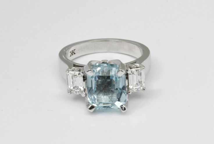 4.60ct Aquamarine with 2 Emerald cut diamonds on each side by Kalfin Jewellery #kalfinjewellery #aquamarineengagementrings #rings #diamondrings #diamondjewellery #jewellers #design #detail #style #love #lovely #picoftheday #bestphoto #follow #followme #beauty #cbdjewellers #jewellery #collinsst #Melbourne #city #giftidea #present #fashion #fashionbloggers #stylebloggers #stylish #happy #lovely #custommaderings #handmadejewellery #jewellery #photooftheday #whitegold #couture #luxury