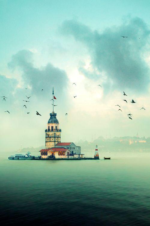 """fotoblogturkey: """" Kız Kulesi, (Maiden's Tower) İstanbul, Turkey, Türkiye """""""