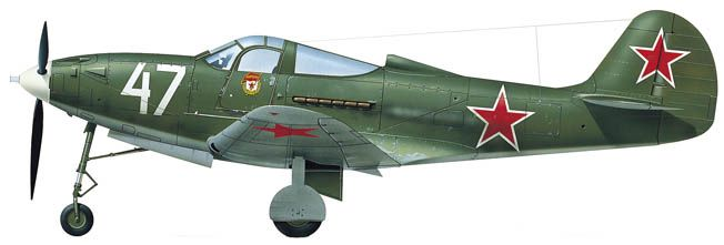 Russian version of the P-39, as supplied to the Soviets through the Lend-Lease program.