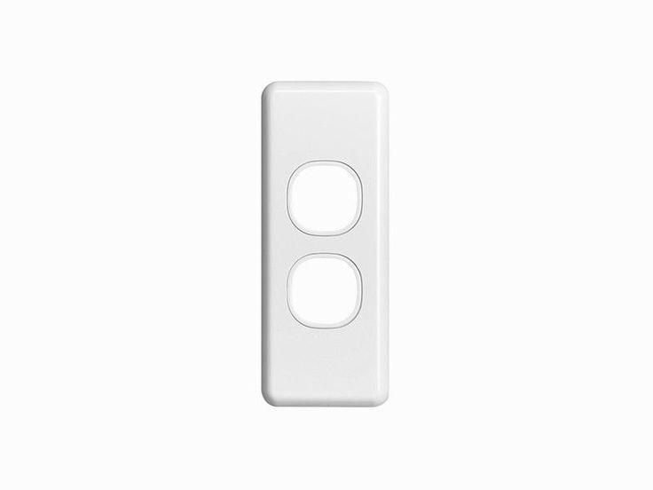 Clipsal 2 Two Double Gang Architrave Plate Classic Series Light Switch C2032