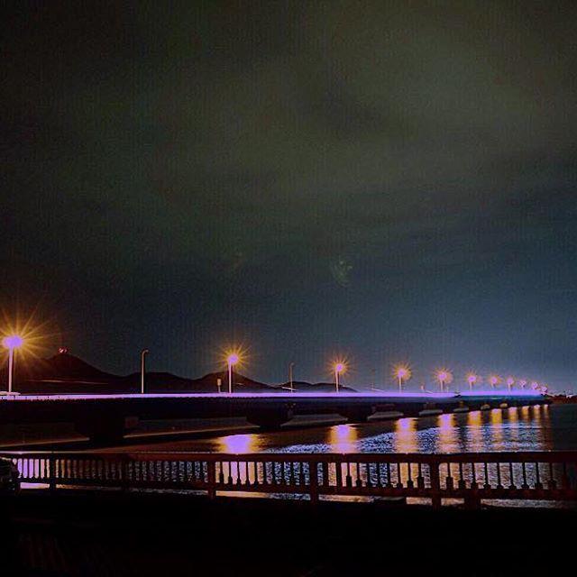 Instagram【keishi_fukushima】さんの写真をピンしています。 《夜活も久々♪ 新港も久々!笑 #熊本 #新港 #港 #海 #橋 #夜景 #風景 #ミラーレス #一眼 #カメラ #写真》