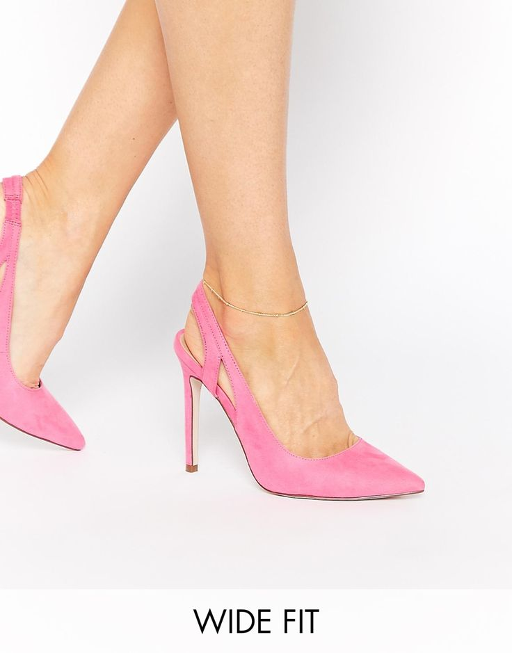 Image 1 ofASOS PRESSING Pointed Wide Fit High Heels