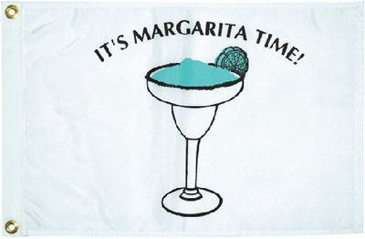 "Taylor Made Products Margarita Time Boat Flag (12"" x 18"")"