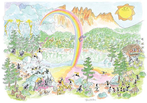 """Puzzle """"Lago di Carezza"""". #formiche #puzzle #lago #carezza #natura"""