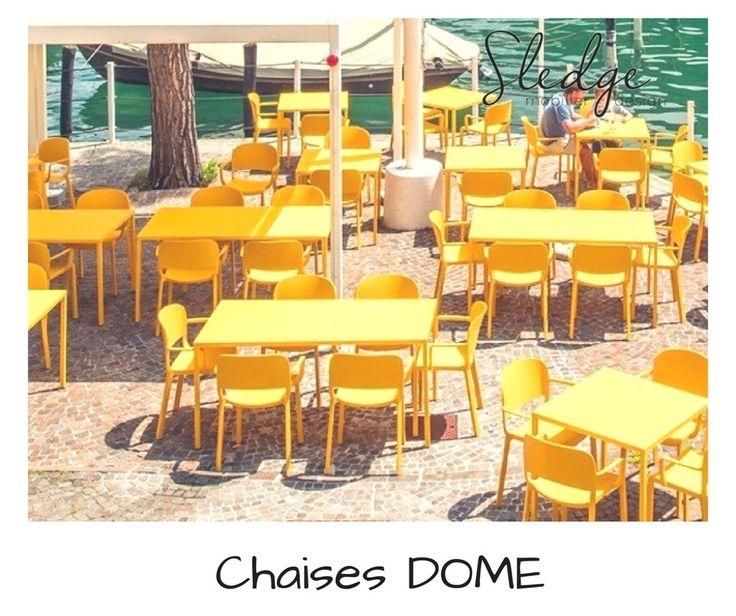 Chaises de terrasse bar restaurant Dome Pedrali, mobilier restaurat et bar , chaises design empilables de terrasse www.sledge.fr