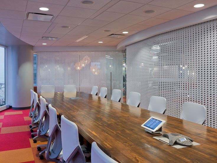 Conference Room At The Marketing Store Studio By 3form Parametre Divider Texture