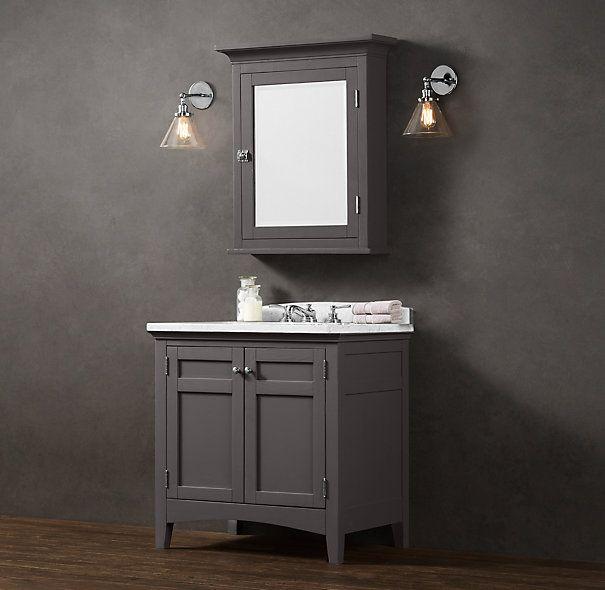 Cartwright single vanity sink cartwright restoration hardware home decor pinterest for Home hardware bathroom vanities