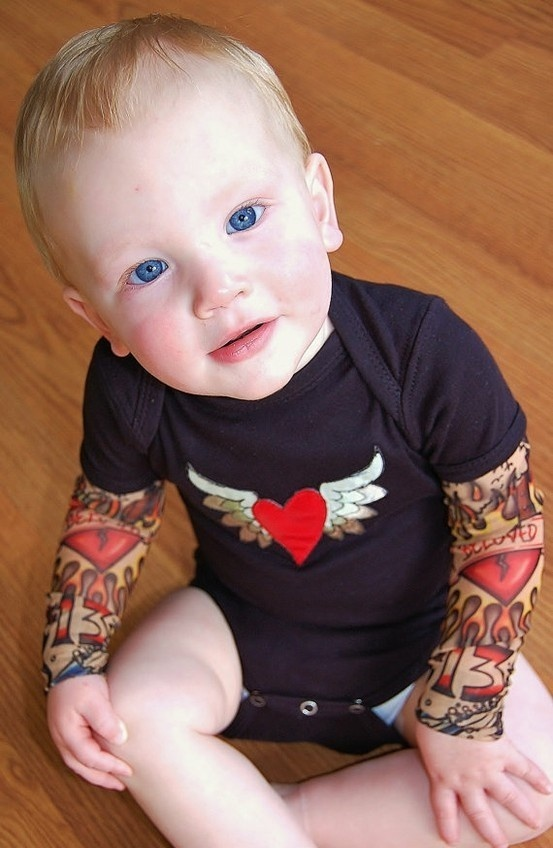 tiny people clothes tattoo sleeves - too cute!