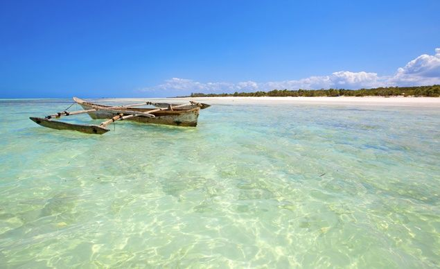 Zanzibar beach in Tanzania--one stop on the 45 day tour of Africa.  Found the dream vacation!!!