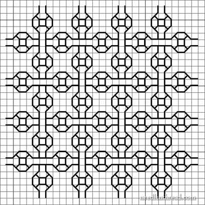 haft blackwork // Developing Blackwork Embroidery Designs