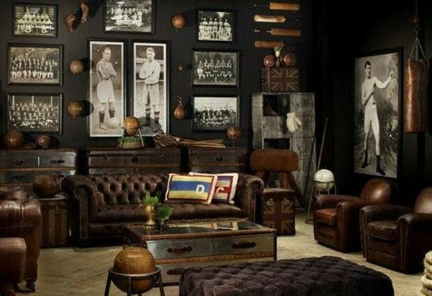 Ultimate Man Cave Roundup - FINDS Favorite Man Caves - Vintage Sports Room