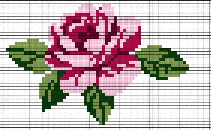 Rose Cross-Stitch Pattern