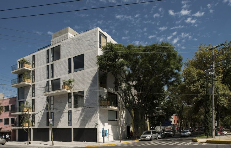 Completed in 2012 in Mexico City, Mexico. Images by Luis Gordoa. The commission was to design a building for 8 dwellings on the corner of Alfonso Reyes Avenue and Saltillo Street, in Colonia Condesa. The project...