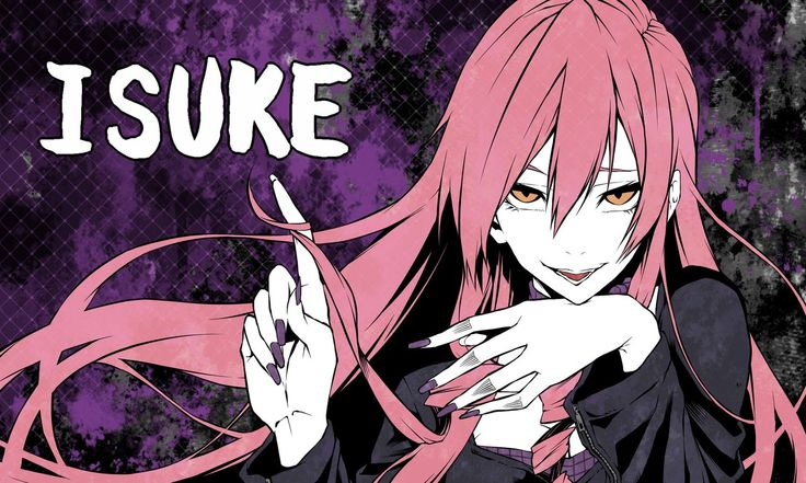 """Исукэ Инукай — вторая ученица в классе Курогуми, 19 лет. Соседка Харуки, девушка-цундере с развязным характером и явными садистскими наклонностями. В прошлом Исукэ едва не погибла от рук своих родителей, как её младший брат, но была удочерена наёмным убийцей-гомосексуалистом Эйсукэ, который обучил её своей профессии, причём его сожитель, которого Исукэ называет """"папой"""", не в курсе его работы"""