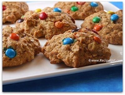 Agave and Honey Oatmeal M&M Cookies   Agaves, Oatmeal and Honey