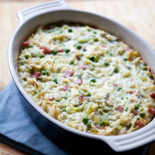 Ham, Peas and Leeks Recipes from The Kitchn: Mail, Baked Orzo, Leeks ...