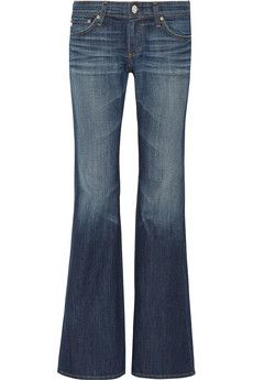 AG Jeans Belle mid-rise flared jeans | THE OUTNET