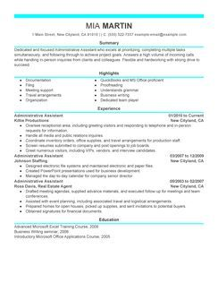 Administrative Assistant Example - Modern 6 Design