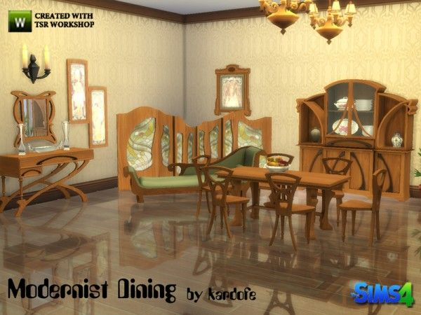 The Sims Resource Modernist Dining By Kardofe O 4 Downloads