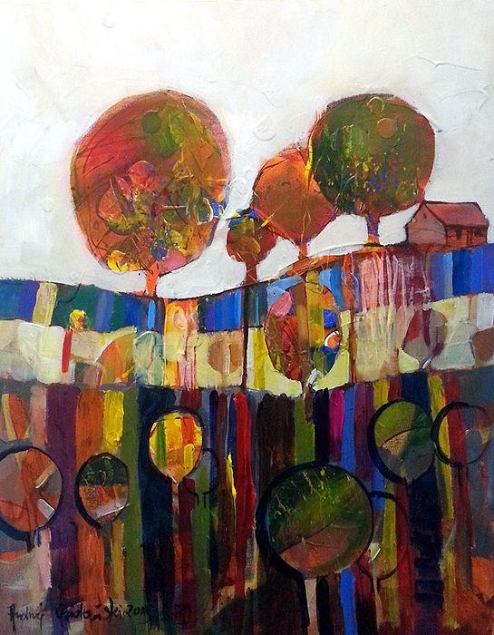 Colourful Orchard by Andrzej Gudanski on ArtClick.ie  Landscape Art