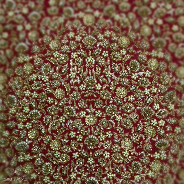 #details #handembroidery #couture #luxury #antique #craft #classic #zardozi #gold #silver #copper #pakistanibridal #perfection #traditional #pakistanibride #pakistanibridal #zaheerabbas