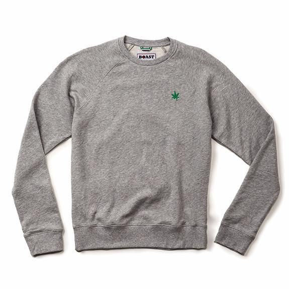 Boast's signature sweatshirt in beautiful heather. 65% Cotton/35% Poly french terry.