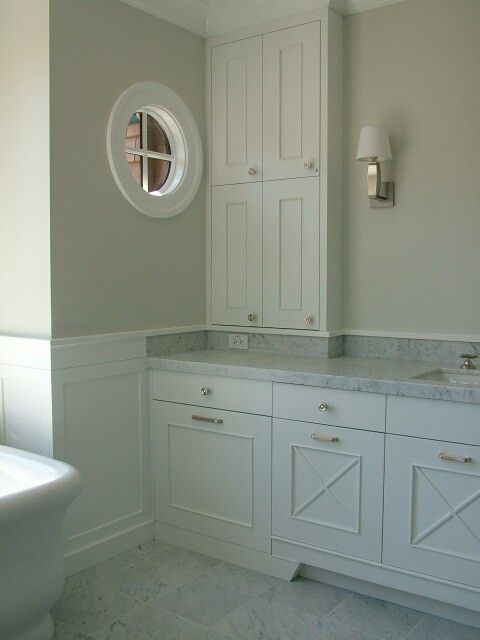 Love The Way This 4 Quot Backsplash On The Vanity Is Finished