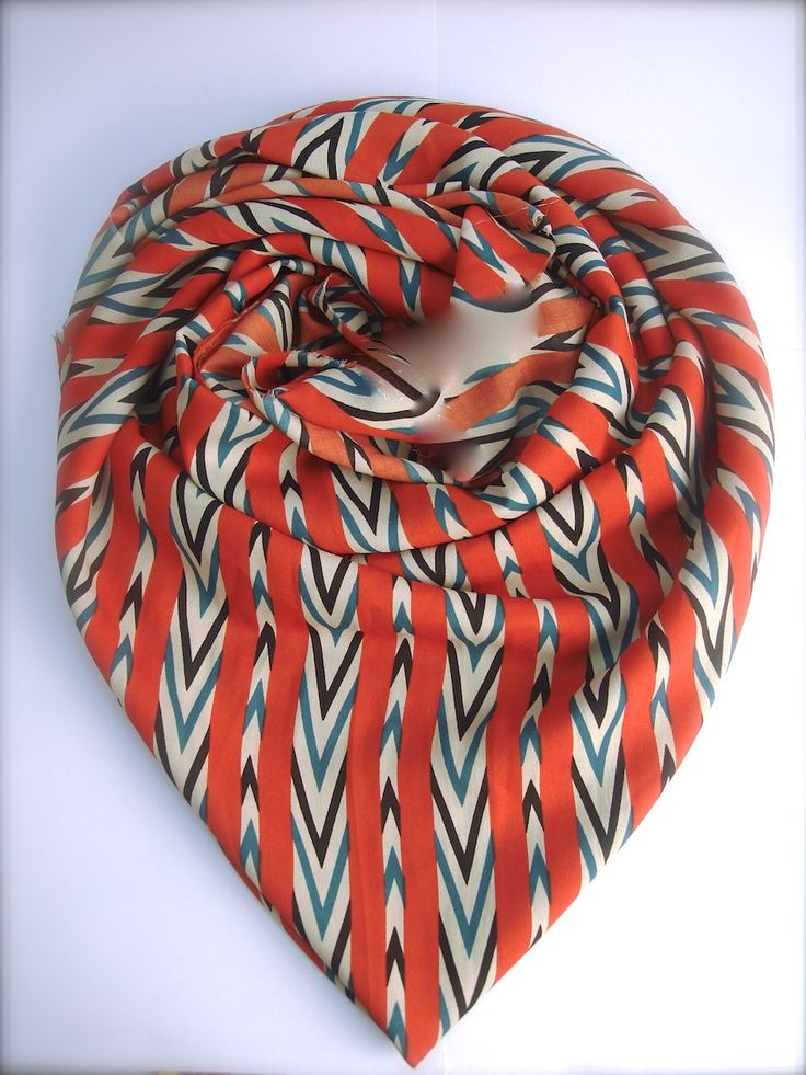 Red Indiana Scarf