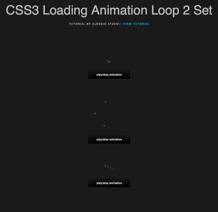 Hi guys, I wanted to create more CSS3 animations, this time experimenting with different methods to create simple loading animation loop. I used the translate property and the cubic-bezier property.