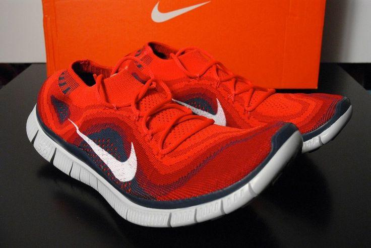 Nike Free Flyknit 5.0 Men size 10.5 Running Gym Red 615805 616 ...
