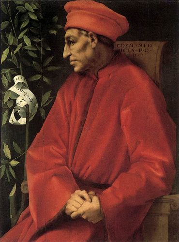 Pontormo ~ Cosimo de' Medici (Cosimo il Vecchio), 1389-1464 ~ Cosimo the Elder de' Medici (1550-1607) ~ known as Pater Patrie as progenitor of the Medici dynasty which governed Florence for more than 300 years