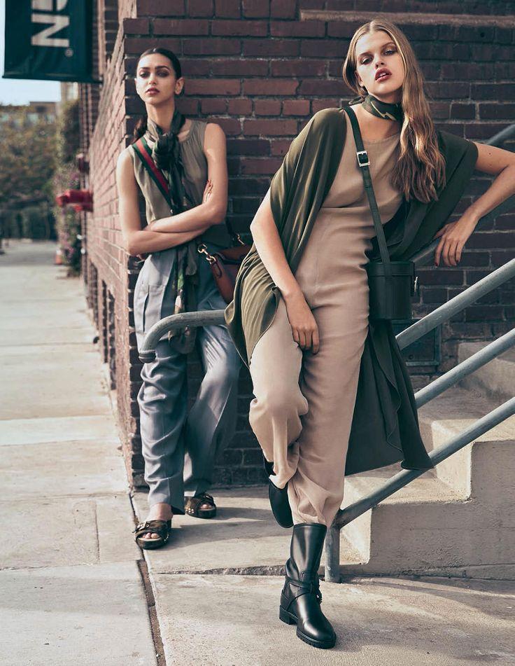 'Army Glam' - Elle Italia 2015 March