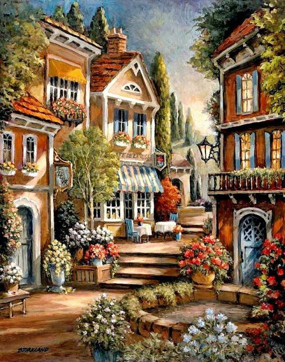 Street Steps 2 - Counted cross stitch pattern in PDF format